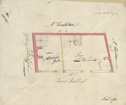 [Plan of property on Bread Street] 119A